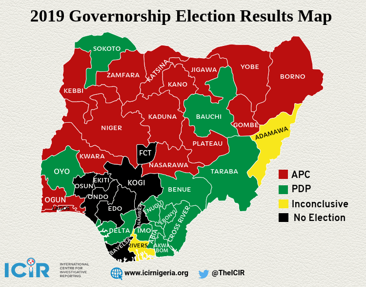 Two-party system in practice: APC secures 15 states, PDP wins 12